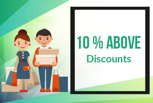 10% & above discount